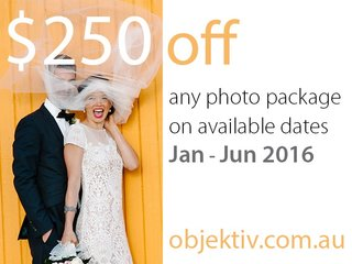 $250 off wedding photography packages january– june 2016